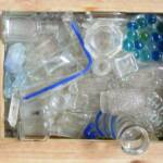 Blue Straw	Cindy Mullen		Recycled Glass on Window	$150