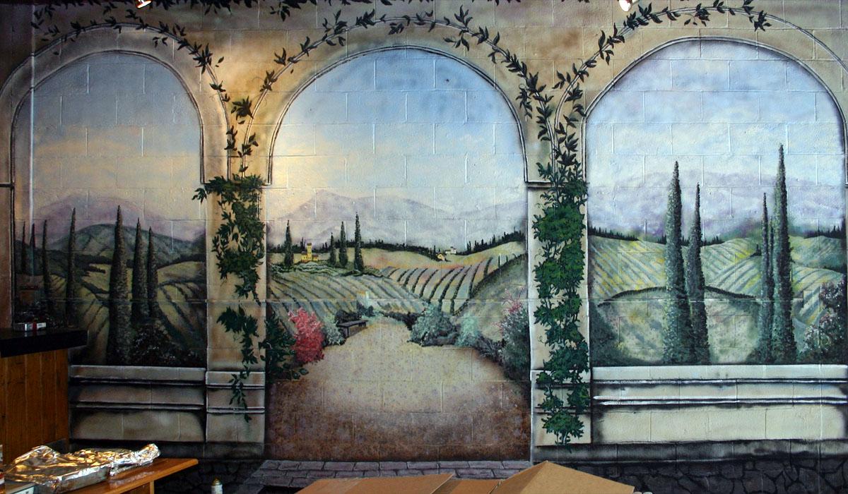 the webb page wall murals b l wine cellars mural